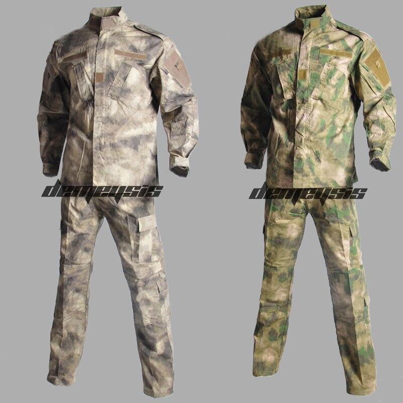 Armée militaire tactique uniforme chemise + pantalon uniforme de Combat hommes armée vêtements costume Airsoft chasse Sniper Camouflage costume