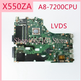 X550ZA motherboard REV2.0 For ASUS X550ZA A8-7200CPU Laptop motherboard X550 X550Z X550ZE Notebook mainboard fully tested
