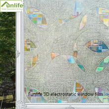 Funlife 30/45/60/75/90cm x200cm 3D static decorative window privacy glass sticker PVC waterproof film covering no glue