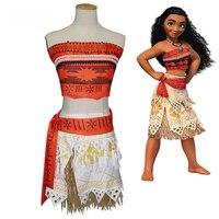 Movie Princess Moana Costume For Kids Moana Princess Dress Cosplay Costume Children Halloween Costume For Girls