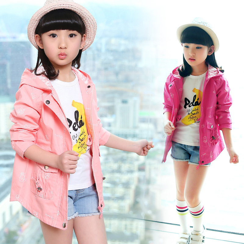 Girls Windbreaker Coat, Marine Animals, Pure Color Spring And Autumn, Big Boy Jacket, 2018 New Children's Clothing