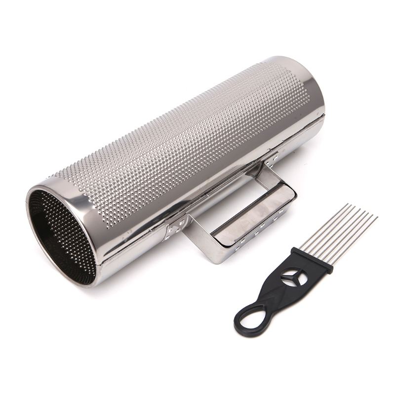 Stainless Steel Guiro with Scraper Percussion Musical Instrument Training Tool