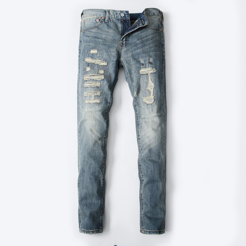 2017 High Quality Dsel Brand Men Jeans Fashion Designer Distressed Ripped Jeans Men Straight Fit Jeans Home,8001 2017 new original high quality dsel brand men jeans straight fit distressed ripped jeans for men dsel brand jeans home 604 a