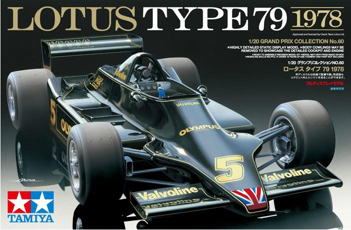 Assemble Car Model 20060 1/20 F1 Formula Racing Lotus Type79 1978