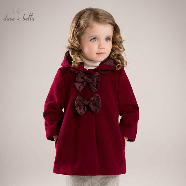 1935c8e8ff41 DB5985 dave bella winter infant baby girl big bows Jackets toddler ...