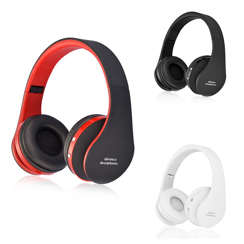 Foldable Bluetooth Headset Wireless Stereo Super Bass Headphones Subwoofer Sport Earphone with Microphone for call / music