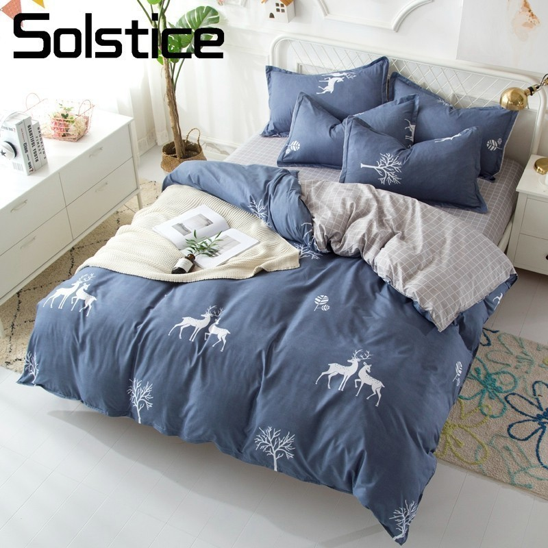 Solstice Home Textile Bedding Set King Queen Twin Full Linens For Teen Adult Boy Girl El ...