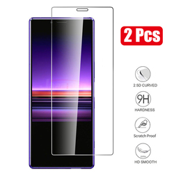 На Алиэкспресс купить стекло для смартфона 2pcs/lot 9h tempered glass for sony xperia 1 xz4 xz2 xz1 compact xz premium xa1 ultra 10 plus screen protector protective film