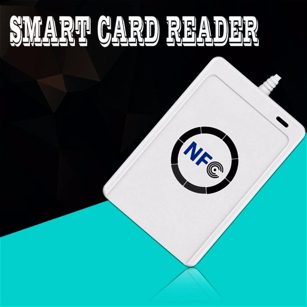 Купить с кэшбэком RFID Smart Card Reader Writer Copier Duplicator Writable copy USB S50 13.56mhz ISO/IEC18092+5pcs M1 Cards NFC ACR122U Dropship