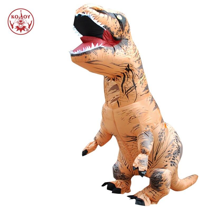 Traje adulto niños inflables dinosaurio disfraces, Cosplay de T rex Anime mono traje de Halloween para las mujeres los hombres mascota