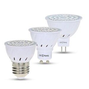 Image 2 - Lámpara de crecimiento LED E27/GU10/MR16 220 V Luz de planta 36 54 72 LED luces de crecimiento de espectro completo led rojo azul para la lámpara Fito de crecimiento de plantas