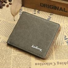 Casual Leather Vintage Men Wallets Zipper Pocket Linen Design Wallet Men Credit Card Holder Purse Money Bag Male Clutch W010