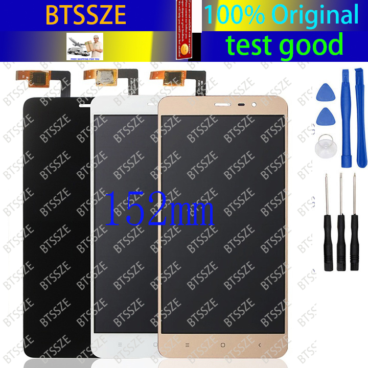 цена  Special version 152mm xiaomi redmi note 3 / note 3 pro LCD + Touch screen assembly whiteblackgold for hongmi note3 pro + tools  онлайн в 2017 году