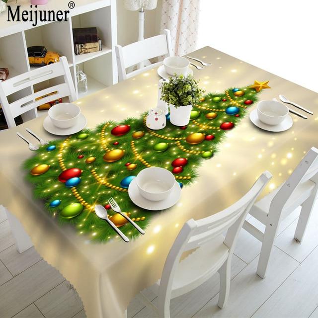 Aliexpress Com Buy Meijuner 3d Christmas Tablecloth Red Green