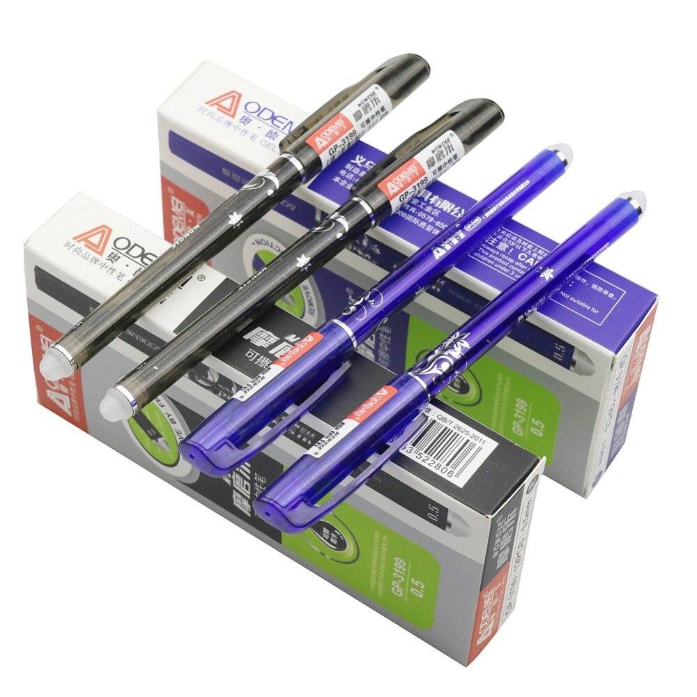Pen Wholesale 144 Pcs 0.5mm Gel Pen Erasable Pen Blue Black Refill Optional Student School Electronic Office Supplies