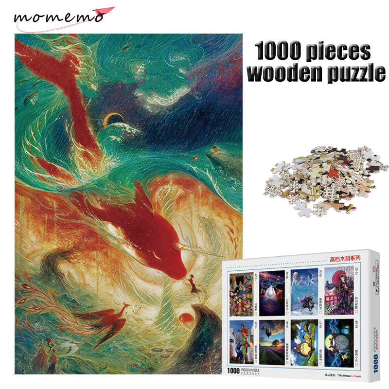 MOMEMO Chinese Myths and Legends Pattern Puzzle 1000 Pieces Mysterious Oriental Cultural Jigsaw Puzzle 1000 Pieces Wooden Puzle