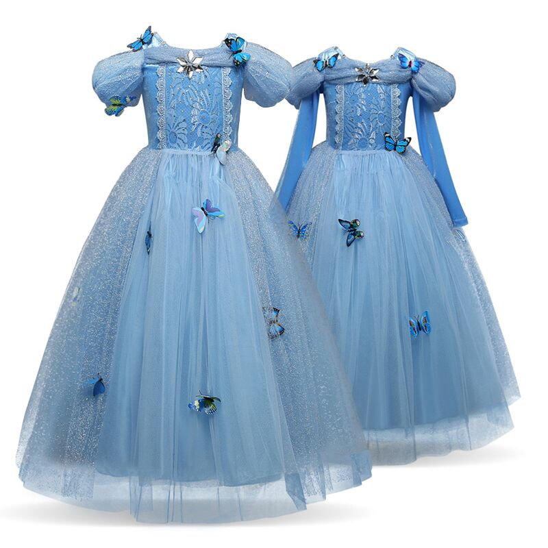 Kids Cosplay Costume Dress Cinderella Elsa Baby Girls: Kids Cosplay Costumes Elsa Dresses Princess Anna Elsa