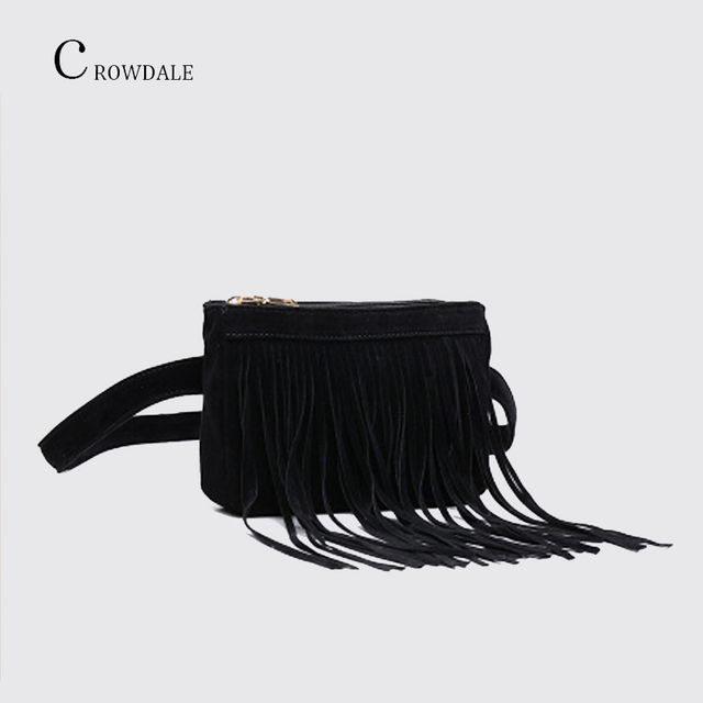 CROWDALE waist belt bag for women 2019 New Arrival Women Waist Pack Fashion Simple Designer fanny pack Waist Bag Tassel belt Bag