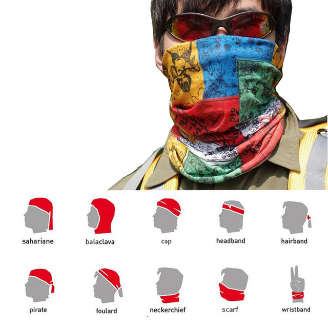 Sports Masks Magic Headband Outdoor Neck Warmer Cycling Bike Bicycle Riding Face Mask Head Scarf Scarves Bandana 100% new 4