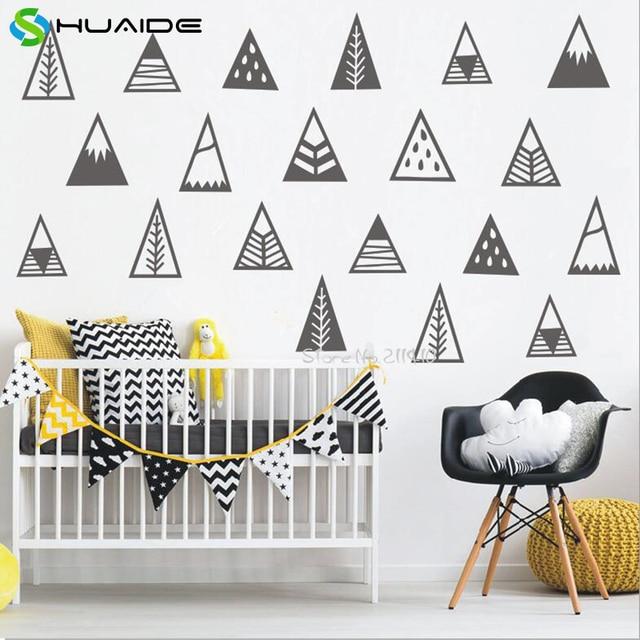 € 17.24 |Mignon Montagne Vinyle Amovible Stickers Muraux Pour Enfants  Chambre Nordique style Montagnes Sticker Home Decor Bébé Pépinière De Noël  dans ...