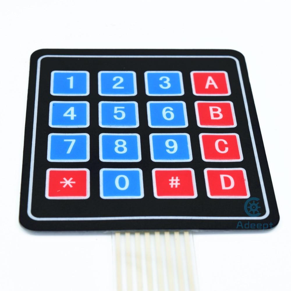 Adeept Uusi Adeept 16 Key Membrane Switch Keypad Näppäimistö 4 x 4 - Smart electronics - Valokuva 3