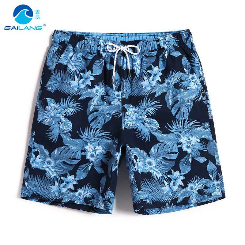 New Men's   board     shorts   swimsuit hawaiian bermudas quick dry surfboard joggers swimwear printed briefs plavky mesh