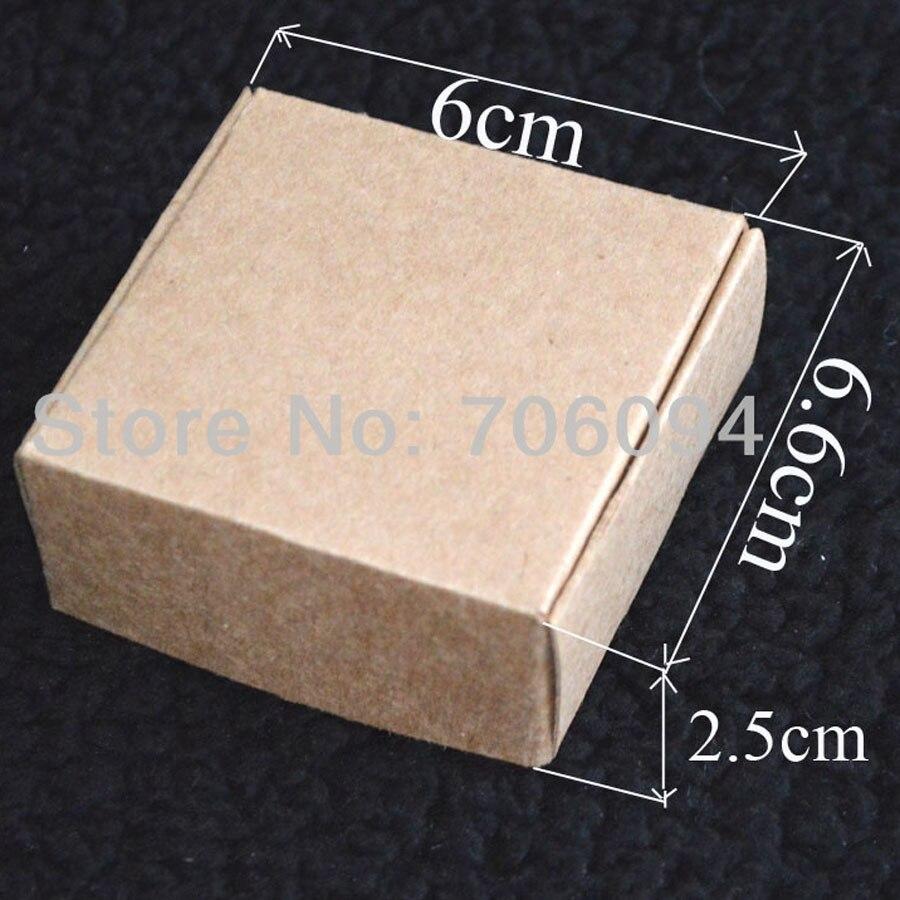 6.6*6*2.5CM,100pcs/lot, Free Shipping Jewerly kraft paper box Brown kraft handmade gift boxes,custom box logo kraft paper box