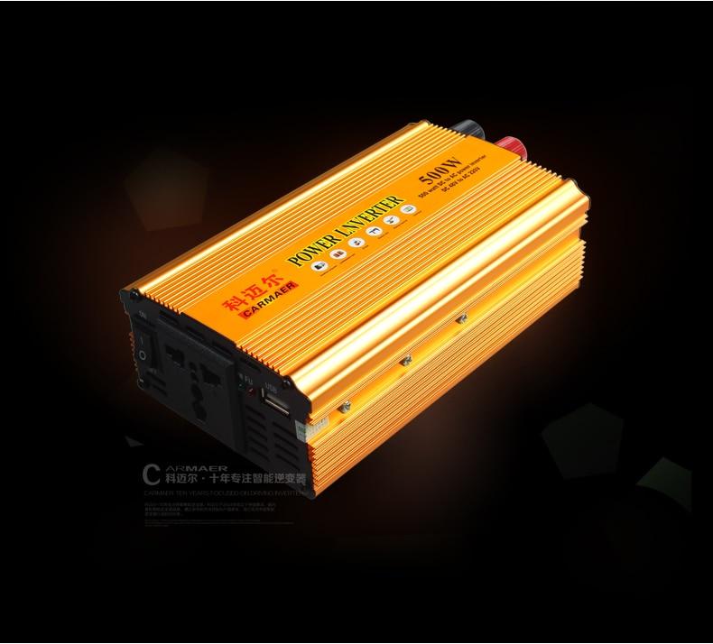 Free Shipping 500W DC 48V to AC 220V crocodile clip + E bike Connection line USB Power Inverter Converter Transformer Power стоимость