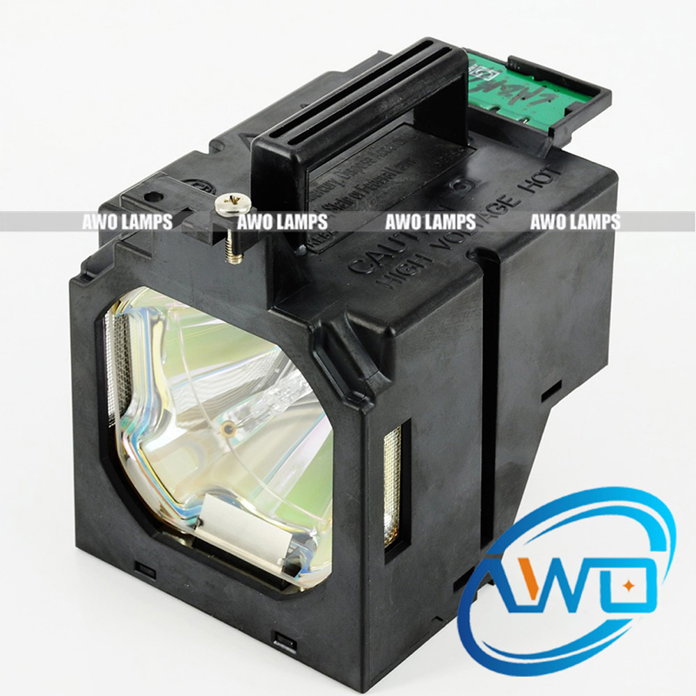 AWO Replacement Projector Lamp POA-LMP147 High Quality Bulb with Housing for SANYO Projector PLC-HF15000L dell 2400mp projector lamp replacement bulb with housing high quality replacement lamp