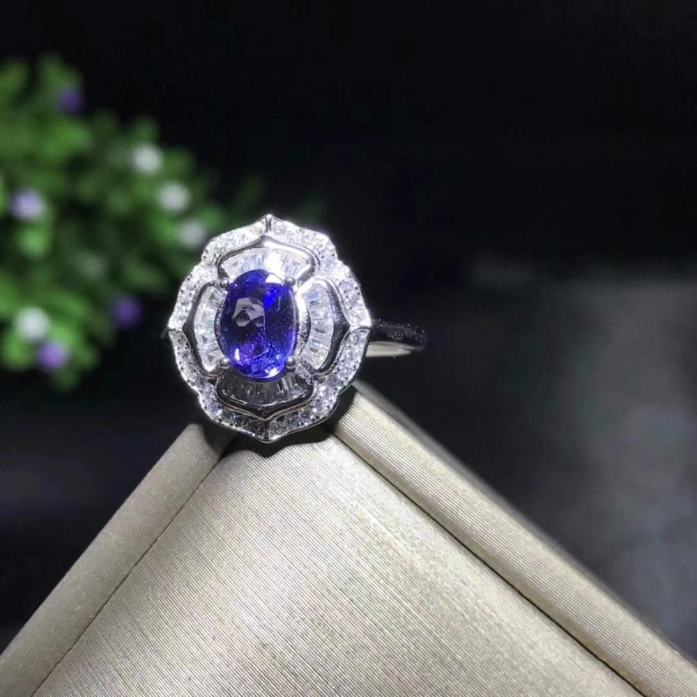 Authentic Tanzanite Purple Gemstone Spiritual Healing Light Purple Stone Silver Tanzanite Ring Christmas Gift Tanzanite Jewelry Gift