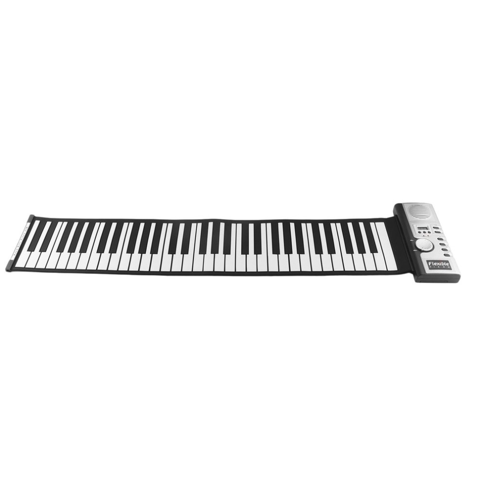 61 Keys 128 Tones Roll Up Electronic Piano Keyboard