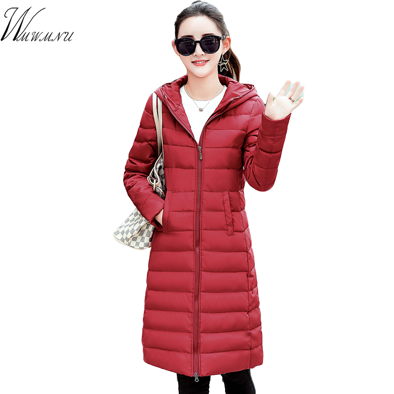 Wmwmnu 2017 winter Autumn slim Long Cotton coat women plus size manteau femme Hood jacket parka and long thick coat jacket 2016 new mori girl national trend loose plus size with a hood denim autumn and winter women medium long plus cotton thick vest