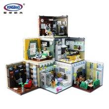 MEOA гостиная дом наборы для ухода за кожей домашнего интерьера строительные блоки кубики Moc Совместимость Legoing город фигурки развивающие игрушки