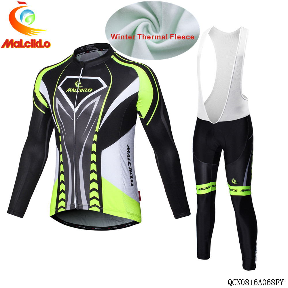 Cycling clothing Men Winter thermal fleece pro team cycling jersey long mtb ropa ciclismo invierno hombre bike cycling clothes цена 2016