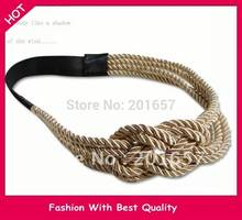 2018 NEW Gossip Girl Jennifer Design handmade knitting rope design Elastic headband hair accessory 1pc(China)