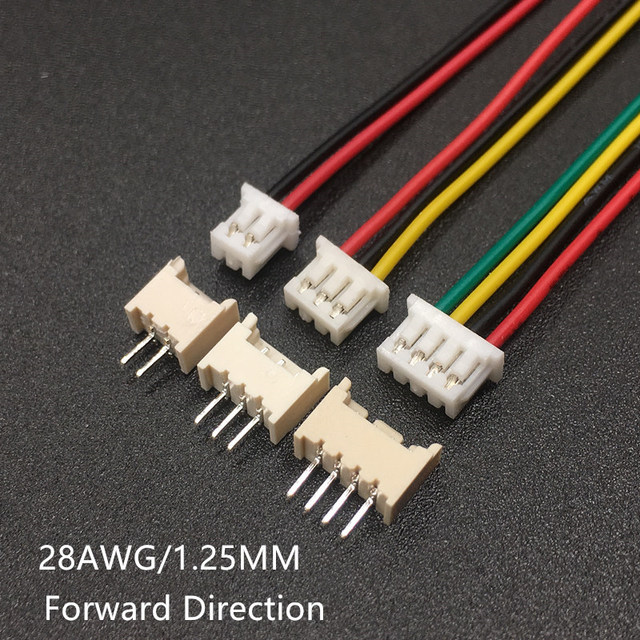 5 Sets Male & Female PCB Connector XH 1.25 JST 2/3/4/5/6/7/8/9/10 Pin Double Head Plug With 100mm Electronic Wire Connectors