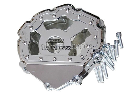 Free shipping motorcycle parts Engine Stator cover see through for Honda CBR1000RR 2008-2014 CHROME Left side fit for honda cbr1000rr cbr1000 2008 2009 2010 2011 2012 2013 2014 motorcycle engine stator cover see through chrome lefe side