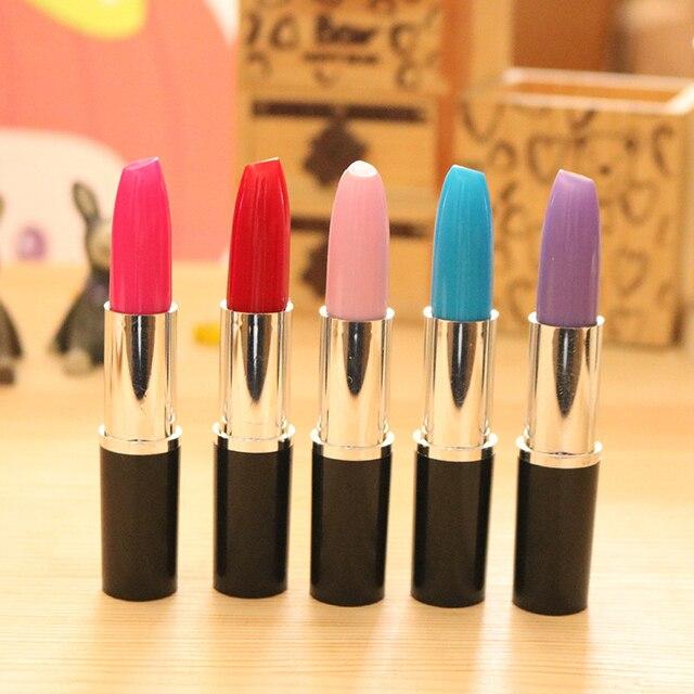 Student Cute Kawaii ballpoint Pen Creative lipstick Ball pen For Kids Novelty Item Stationery Gift School Supplies 1506 1