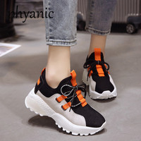 Phyanic Fashion Comfortable Women White Shoes Wedge Lace Up Woman High Heels Casual Shoes For Lady