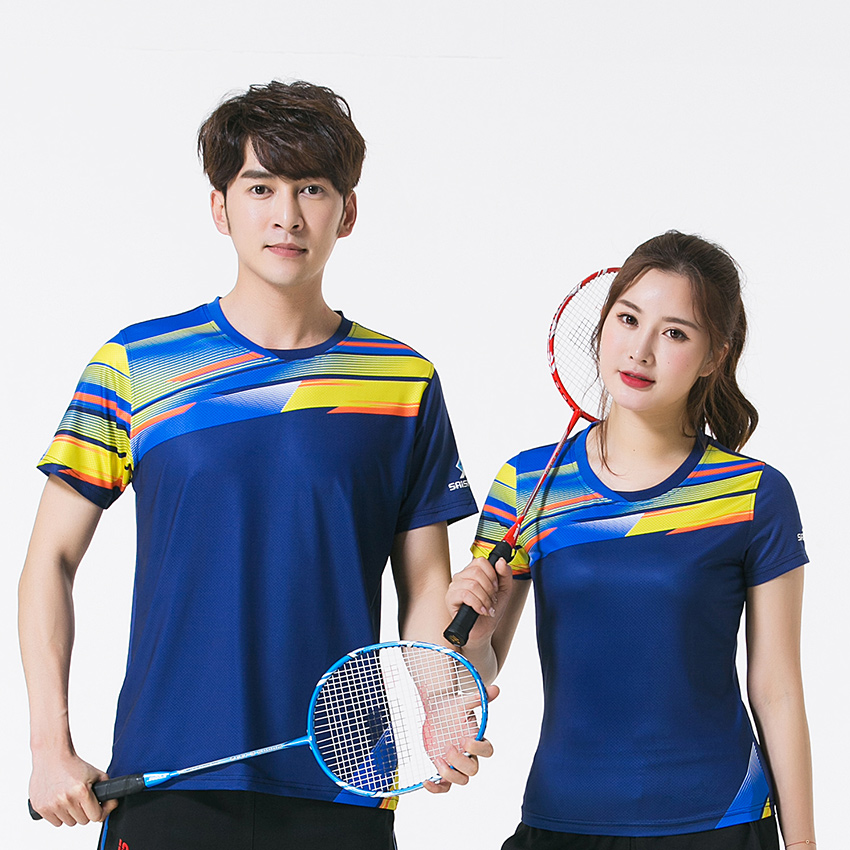 Free Print New Quick dry Badminton clothes ,sports shirt , Table Tennis shirt, Tennis shirt Male/Female , Tennis shirts 3879AB
