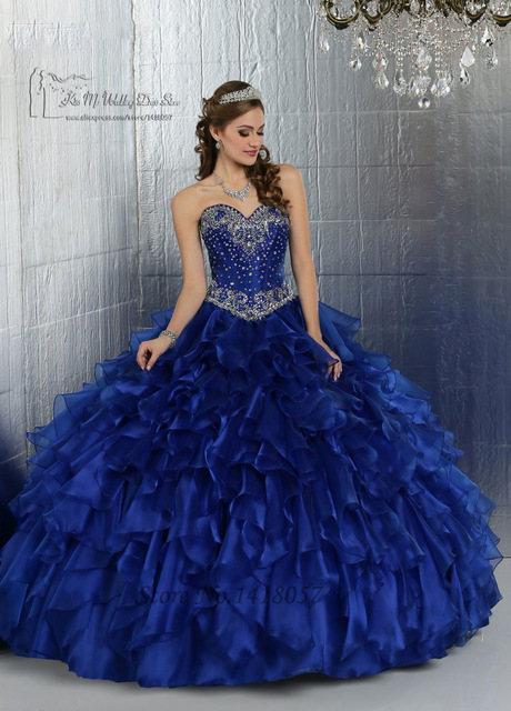 US $199.0 |Royal Blue Quinceanera Dresses with Jacket Crystal Masquerade  Ball Gowns Sweet 16 Prom Dresses Plus Size Vestidos 15 Anos-in Quinceanera  ...