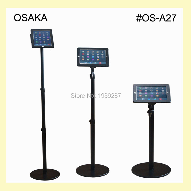 for ipad floor stand with security lock enclosure height adjustable kiosk display on shop bank for - Ipad Floor Stand