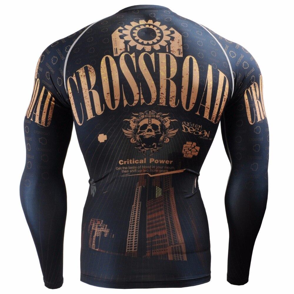Мужские компрессионные рубашки LIFE ON TRACK с длинным рукавом для бега, гибкие рубашки для тренировок, многофункциональные футболки MMA для занят... - 2