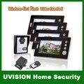 Для дома 4 блок квартира 7 дюймов TFT монитор беспроводная видео домофона дверь Bell внутренняя связь системы