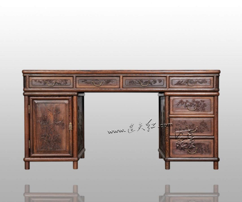 Living Room Computer Desk Burma Rosewood Rectangle Book Tables Carved  Wooden Furniture Solid Wood Antique Writing executive Desk on  Aliexpress.com | Alibaba ... - Living Room Computer Desk Burma Rosewood Rectangle Book Tables