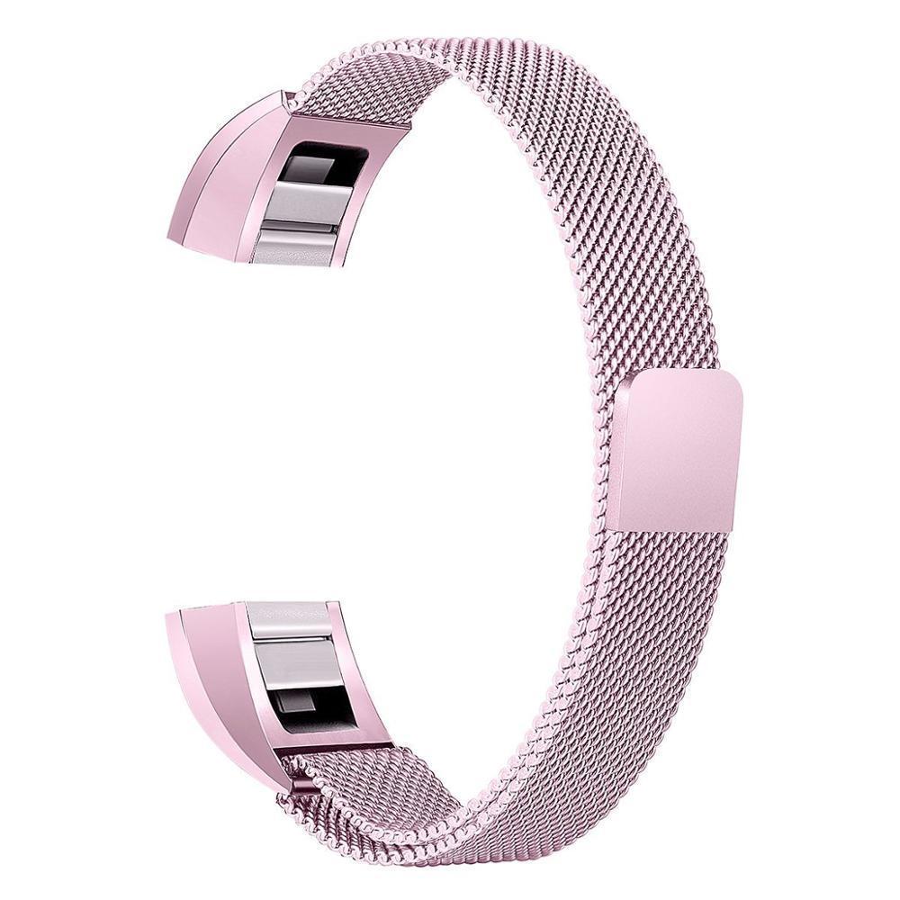 Melhor preço Para Fitbit Alta HR/Alta Substituição Bandas Milanese Laço Bandas Pequeno tamanho Grande queda De Metal Em Aço Inoxidável grátis
