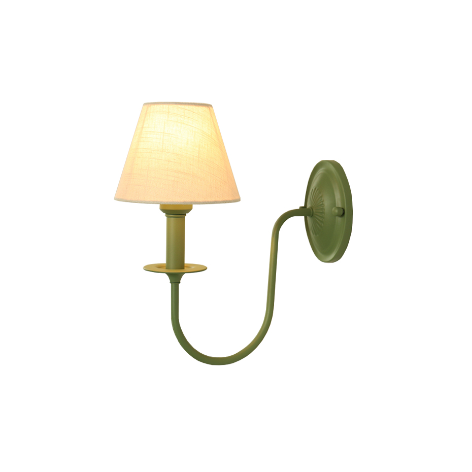 Led Indoor Wall Lamps Dependable Plants Iron Wall Lamps,green & Black U-arm,the Jungle Guest Series Of Lucas Lights,bionic,retro,household Fabric E26 Sconce Bulb