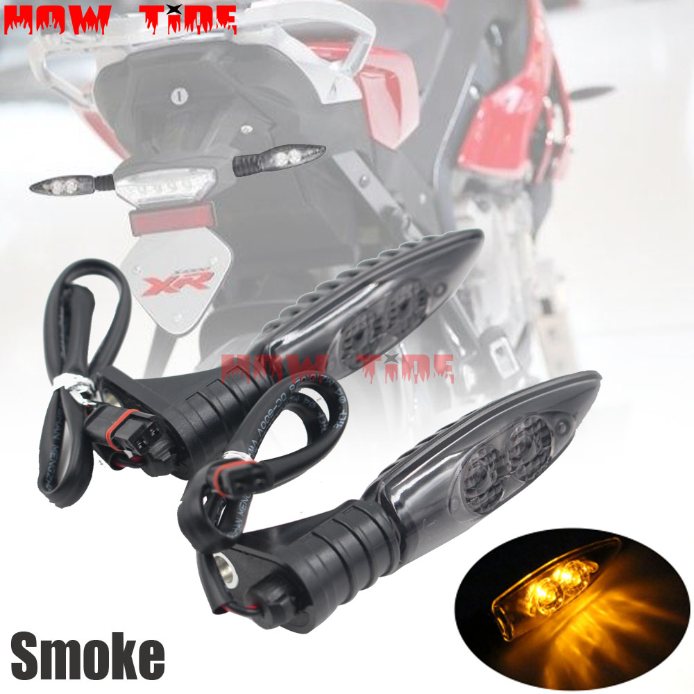 For BMW HP4 S1000R S1000RR S1000XR R1200GS <font><b>R1200R</b></font> R1200RS Motorcycle Front or Rear <font><b>LED</b></font> Turn Signal Indicator Light Blinker image