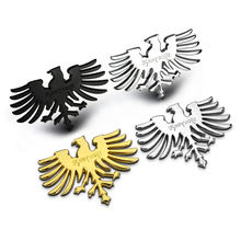 1 PCS 3D metal Phoenix eagle auto decoration stickers eagle totem grille embem badge stereo car stickers car-styling(China)