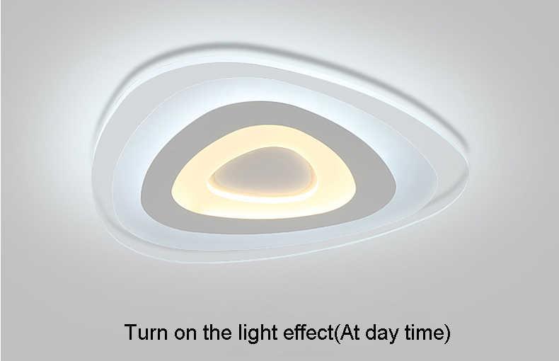 Ультратонкие акриловые современные светодиодные потолочные светильники для гостиной спальни плафон для домашнего освещения потолочные светильники для дома